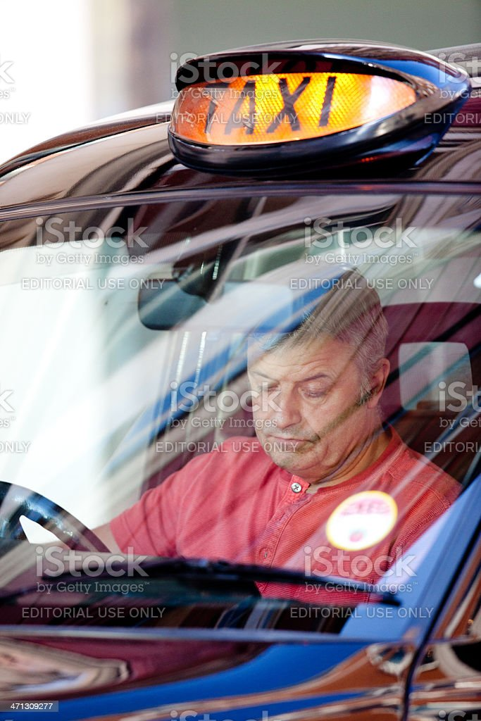 London Taxi driver stock photo