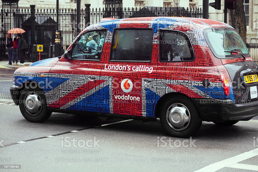 London taxi stock photo