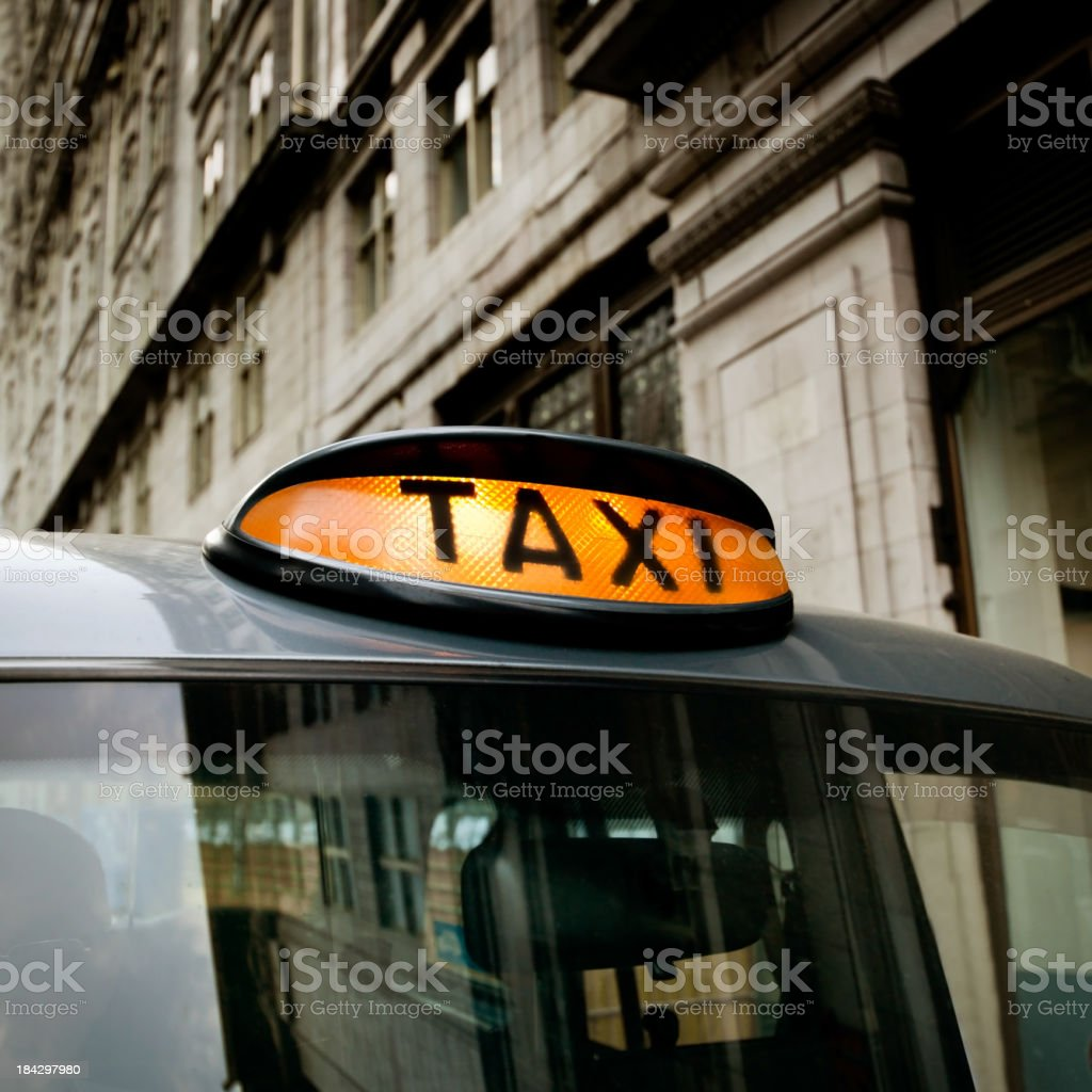 London Taxi royalty-free stock photo