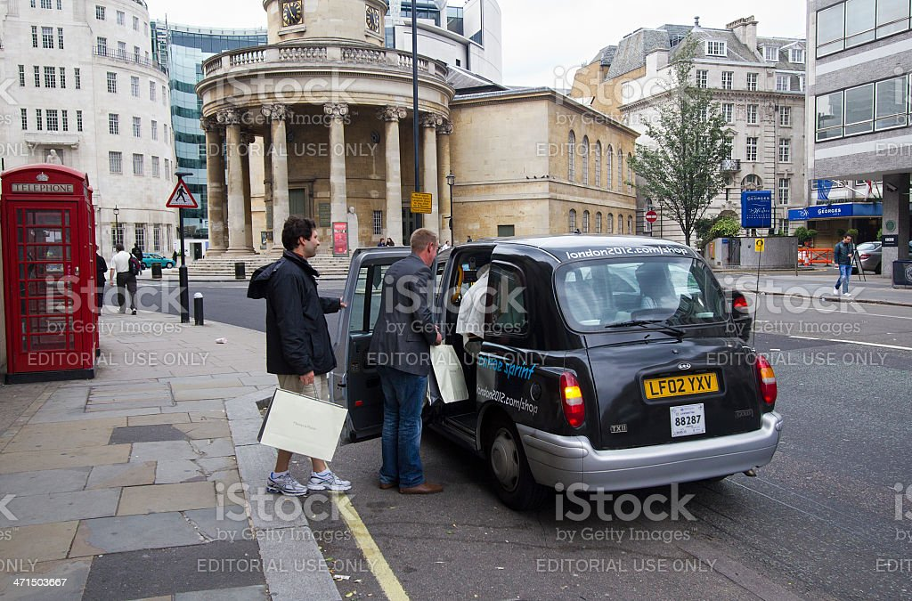 London Taxi royalty-free stock photo