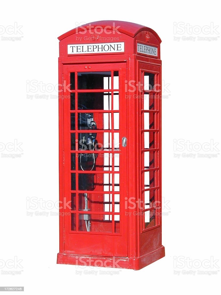 London Telephone Booth Cutout royalty-free stock photo