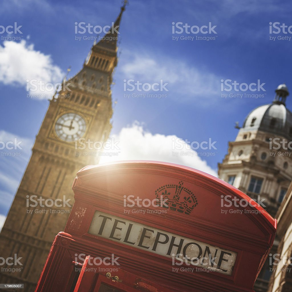 London telephone booth royalty-free stock photo