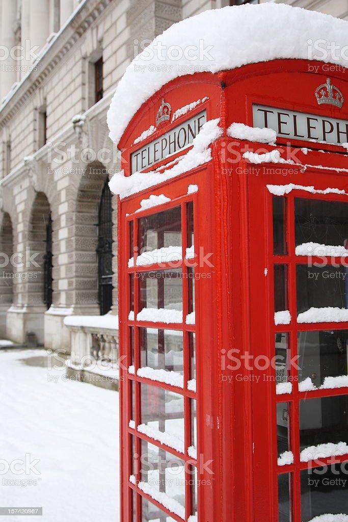 London Telephone box royalty-free stock photo