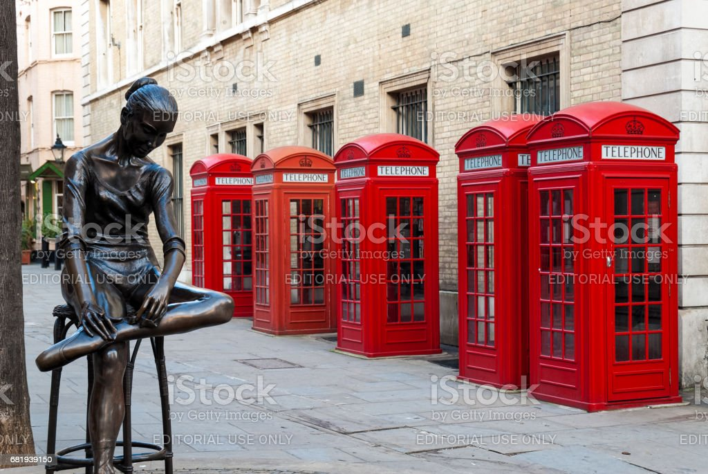 London telephone boxes stock photo