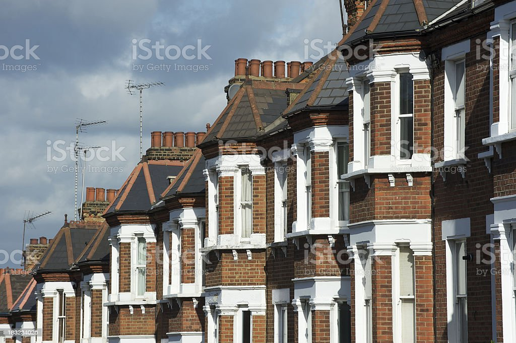 London terraced homes stock photo
