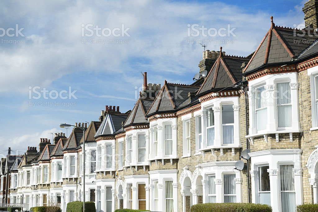 London Terraced Houses stock photo