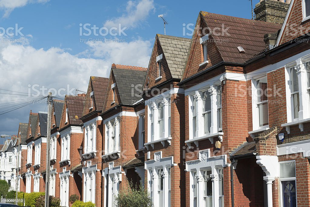 London Terraced Housing stock photo