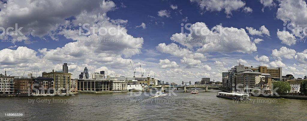 London Thames big sky cityscape royalty-free stock photo
