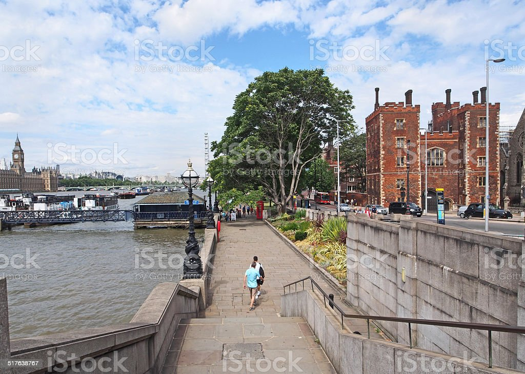 London Thames Embankment stock photo