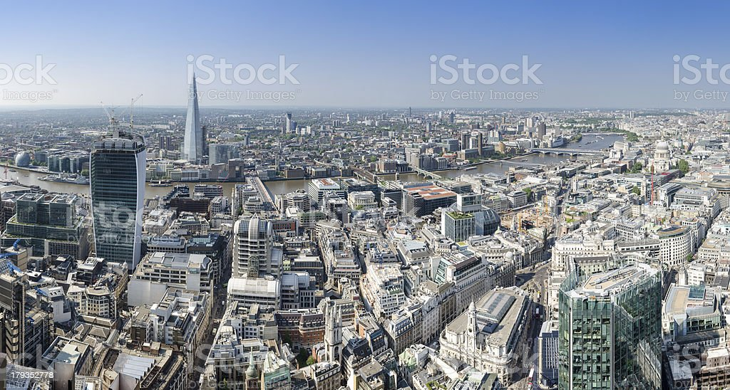 London, Thames panorama royalty-free stock photo
