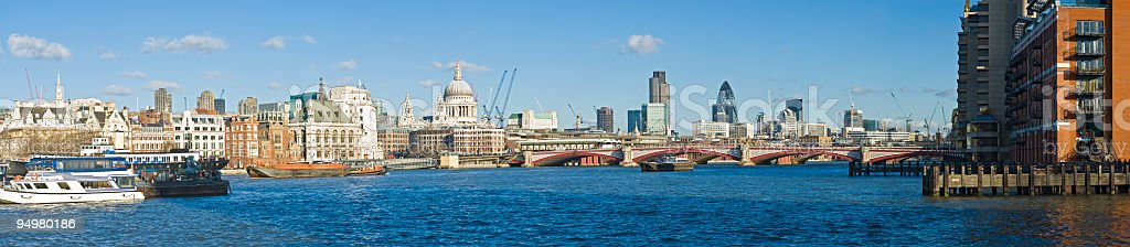 London Thames panorama royalty-free stock photo