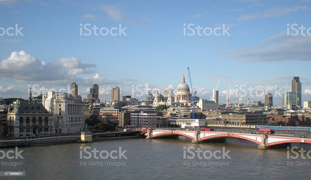 London Thames stock photo