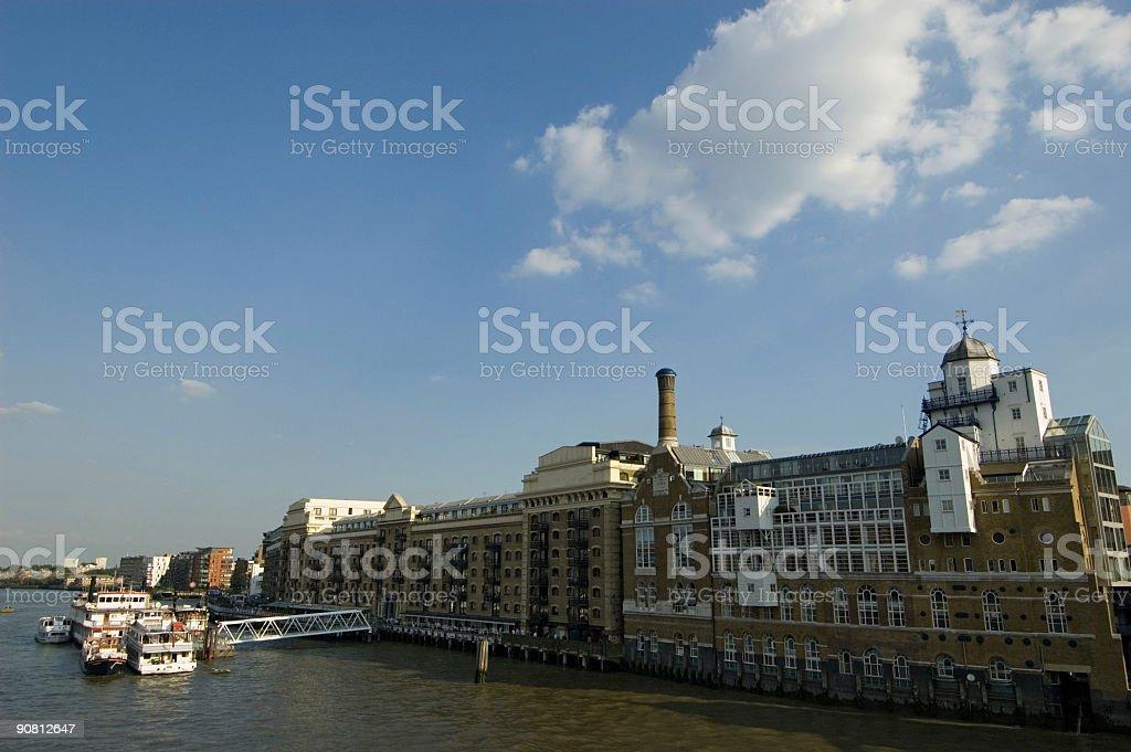 London Thames Riverside Building I stock photo
