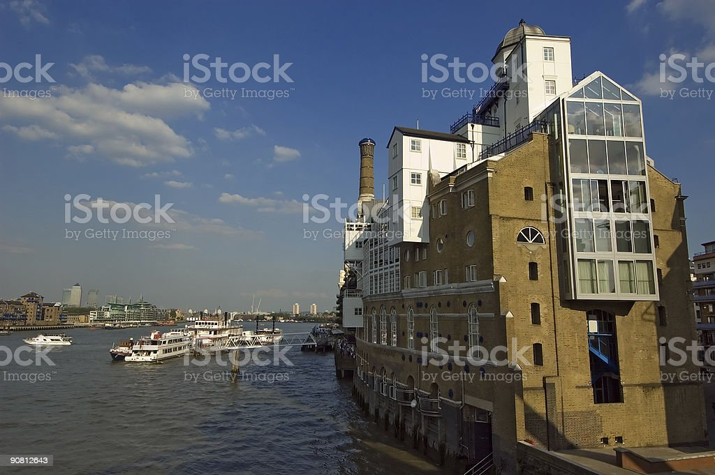 London Thames Riverside Building stock photo