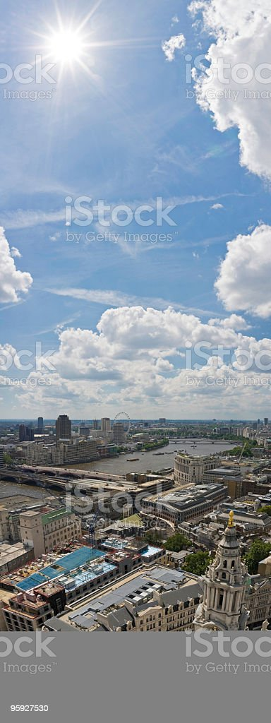 London Thames sunburst royalty-free stock photo