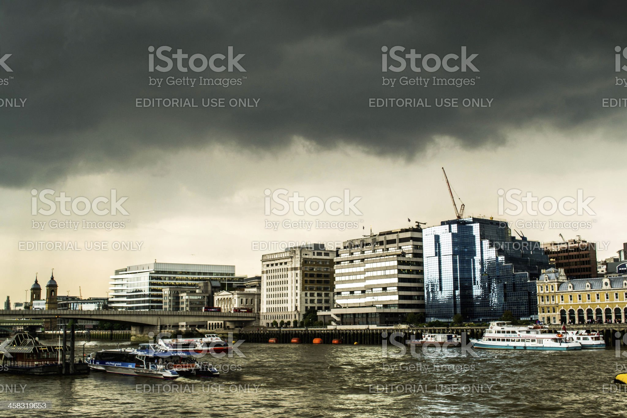 London Thames view royalty-free stock photo