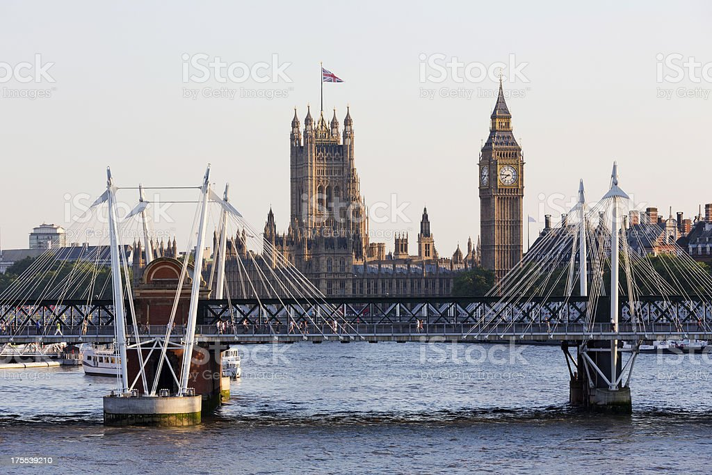 London - The Palace of Westminster at sunset royalty-free stock photo