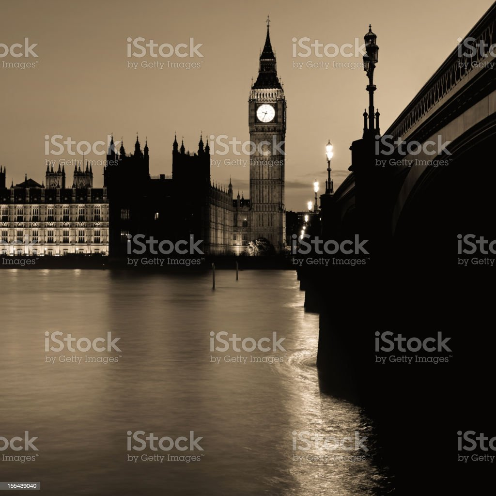 London - The Palace of Westminster royalty-free stock photo