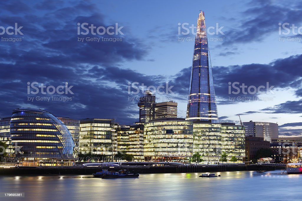 London - The Shard and City Hall stock photo