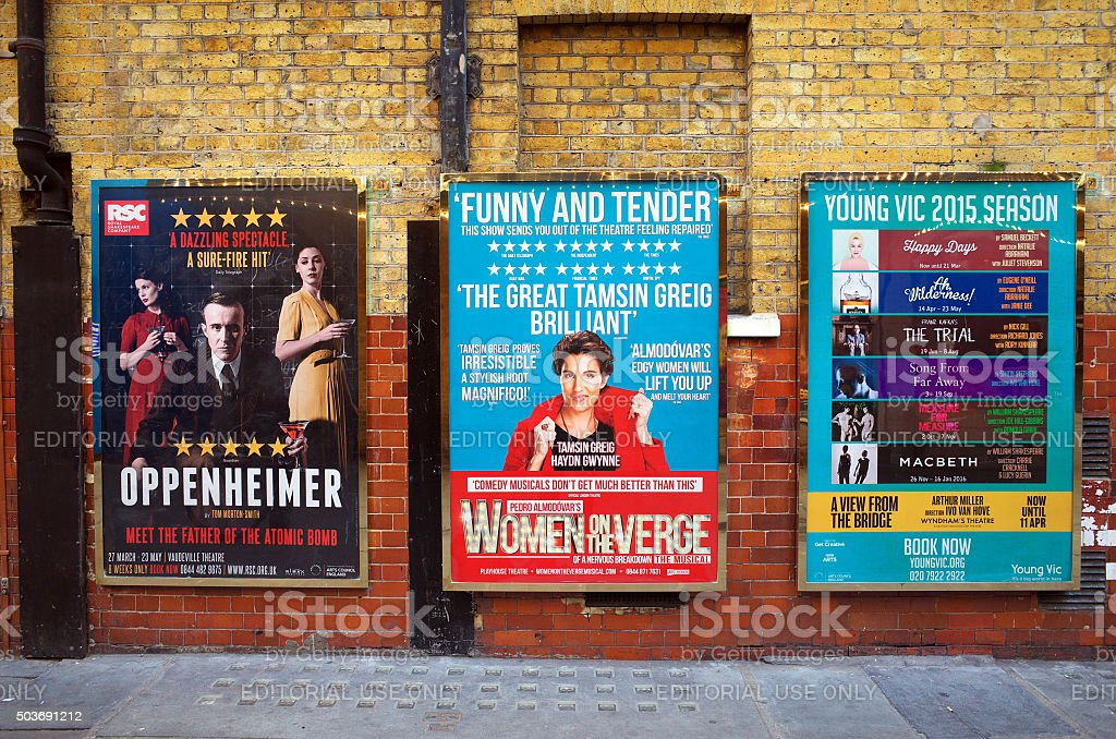 London Theatre Posters stock photo