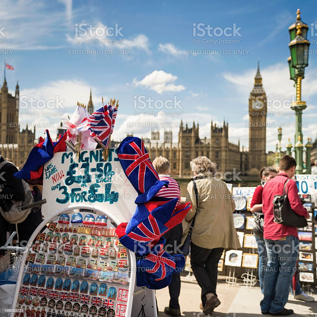 London Tourist Souvenirs on Display royalty-free stock photo