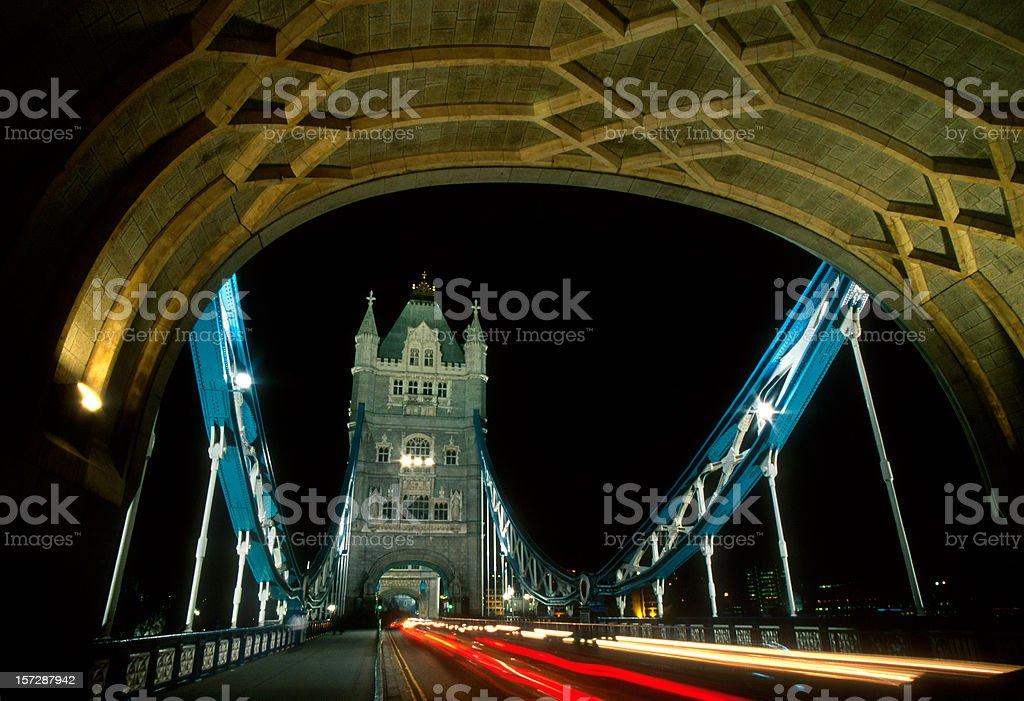 London, Tower Bridge at Night royalty-free stock photo