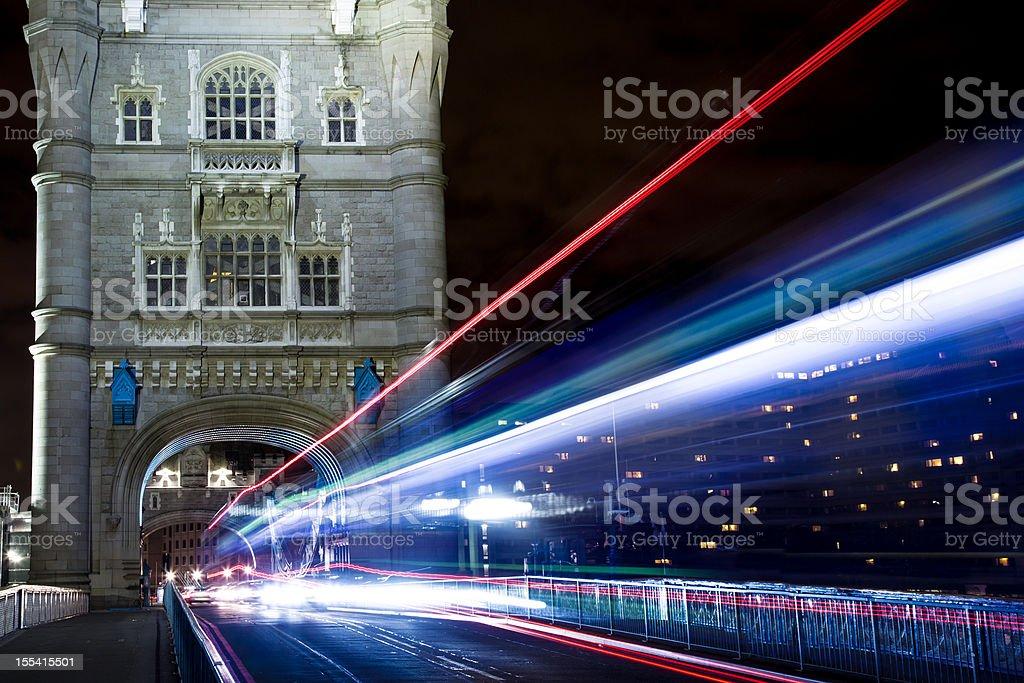 London Tower Bridge at Night, United Kingdom royalty-free stock photo
