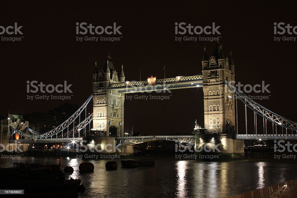London Tower Bridge by night royalty-free stock photo