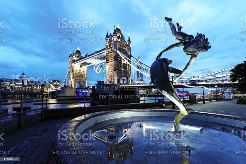 London - Tower Bridge during Olympics royalty-free stock photo