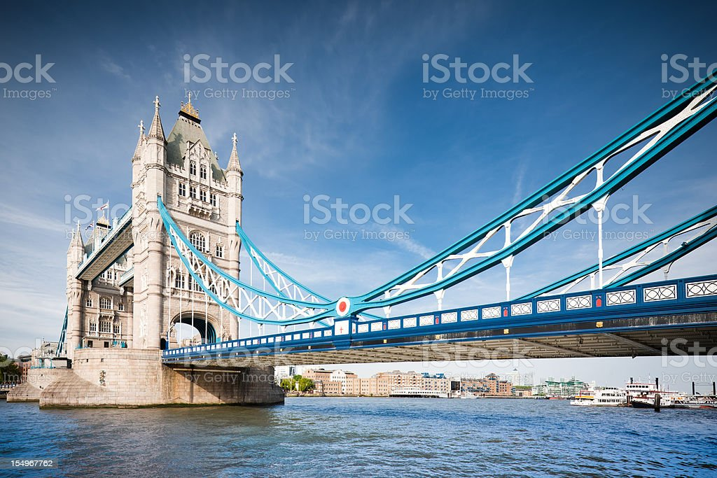 London Tower Bridge in Summer royalty-free stock photo