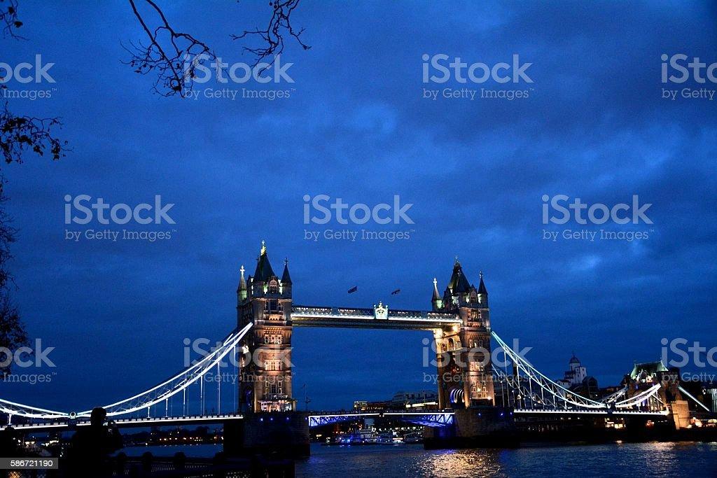 London Tower Bridge, London City stock photo