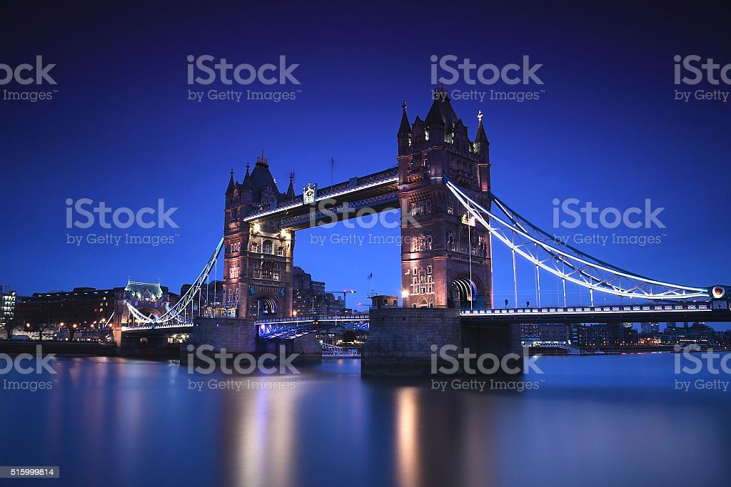 London Tower Bridge stock photo