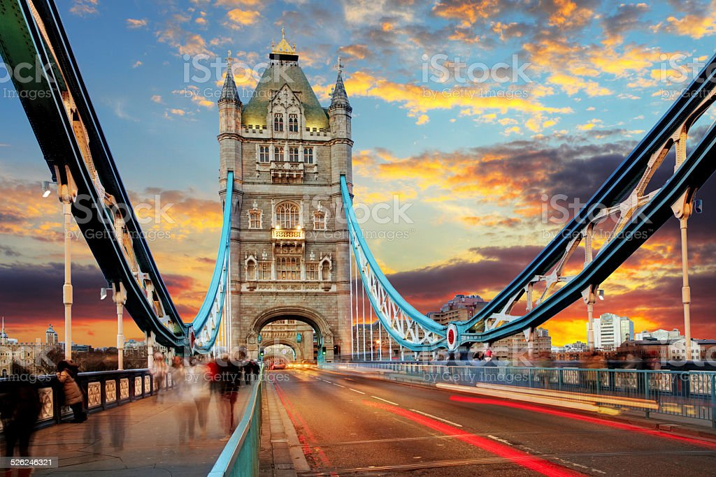 London, Tower Bridge stock photo