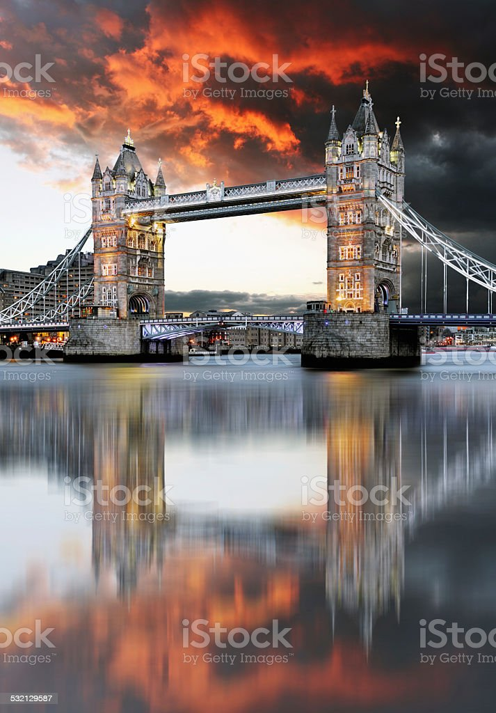 London, Tower Bridge stock photo