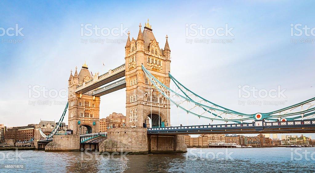 London Tower Bridge, River Thames UK stock photo