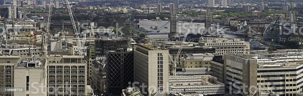 London Tower cityscape panorama royalty-free stock photo