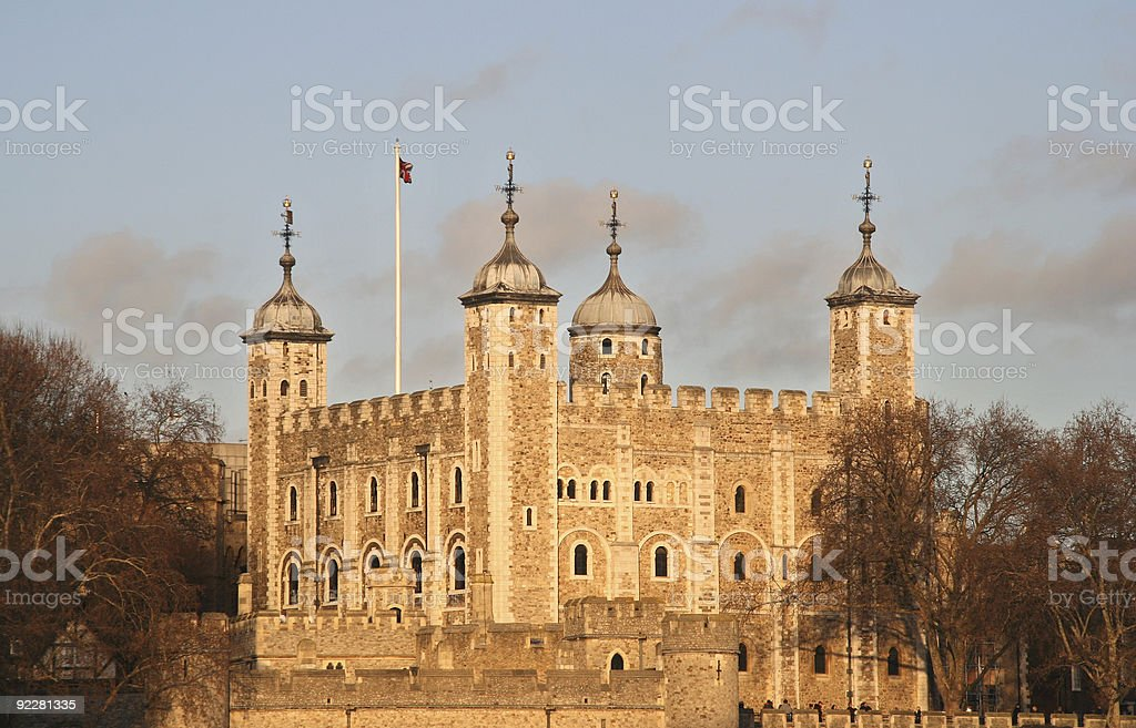 London Tower in Winter stock photo
