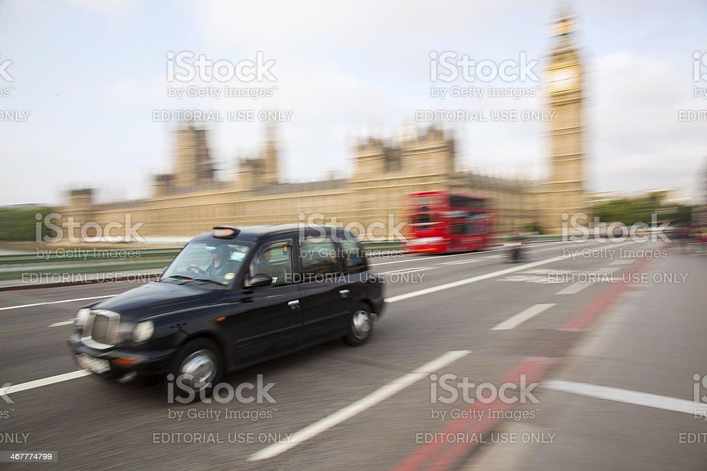 London trafic scene stock photo