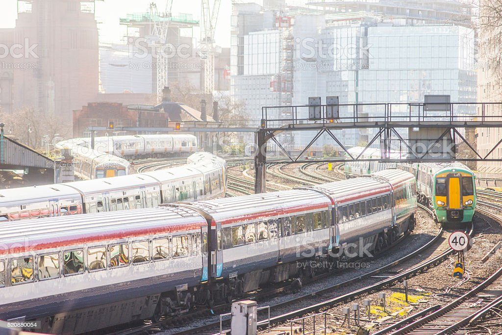 London trains stock photo