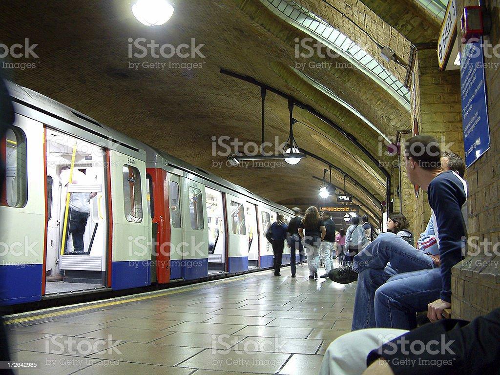 London Tube - Bakerloo Station Part 2 royalty-free stock photo