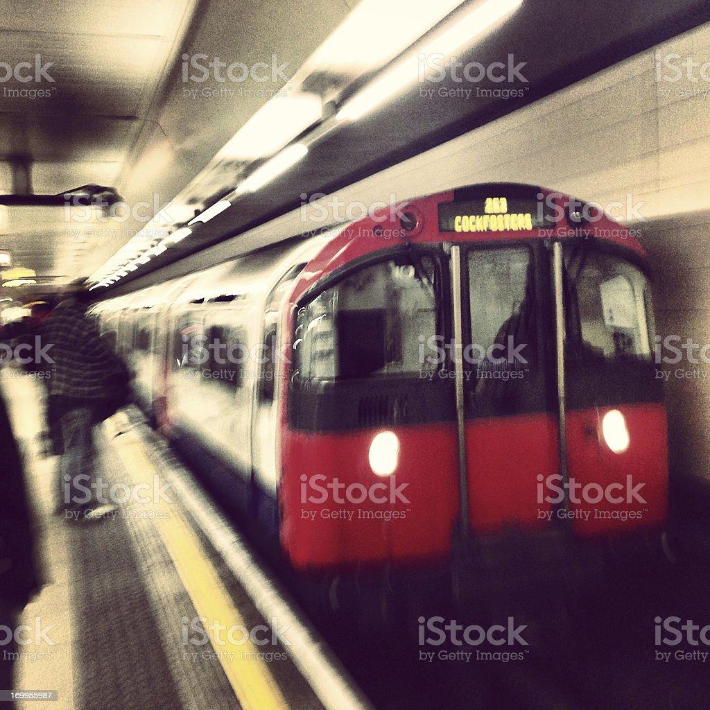 London Tube Train Arrival (Mobilestock) stock photo