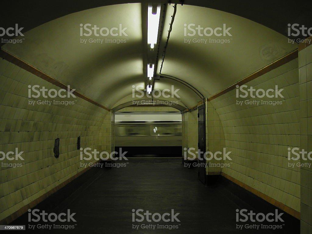 London -Tube tunnel stock photo