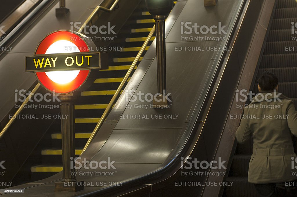 London Tube Underground: The Way Out stock photo