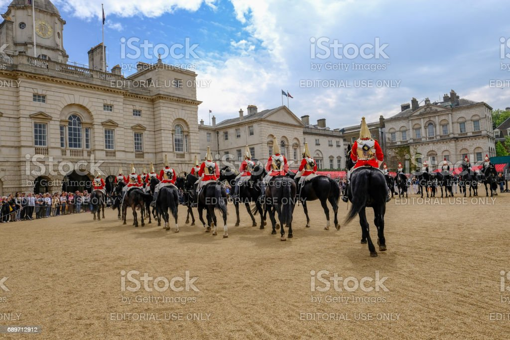 London, Uk - May 11, 2017 - Horse Guard's Parade stock photo