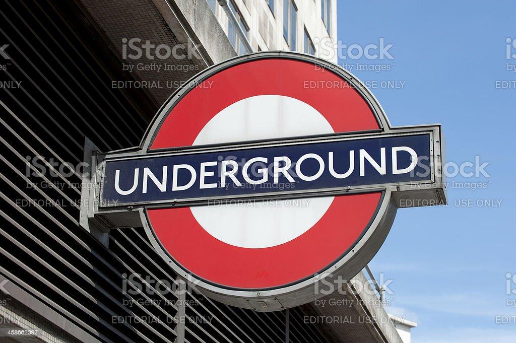 London Underground Logo Sign Close Up royalty-free stock photo