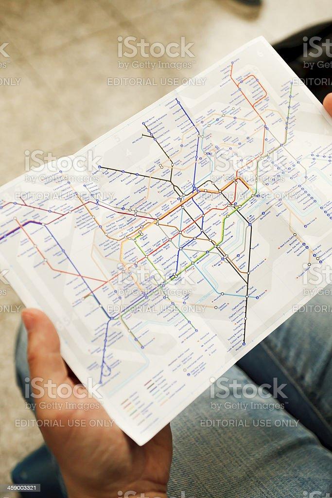 London Underground map. stock photo