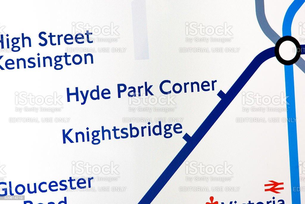 London Underground map stock photo