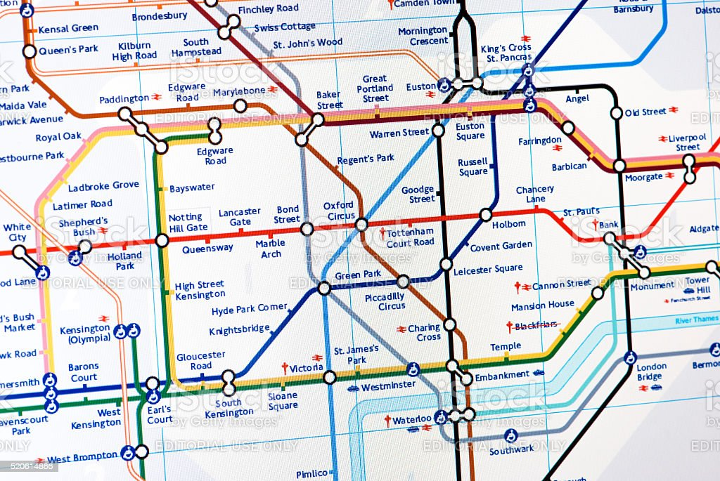 London Underground map stock photo