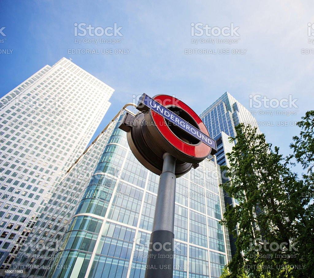 London Underground Sign royalty-free stock photo