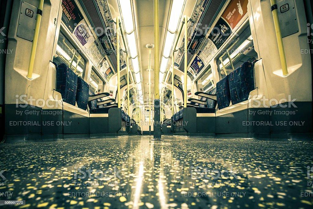 London Underground Subway Car stock photo